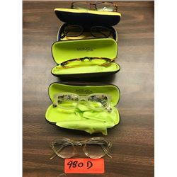 5 Prs. Eyewear: Scojo NY, etc. - Various Colors, Rx Lenses