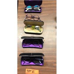 5 Prs. Eyewear:  Various Brands, Colors, Rx Lenses