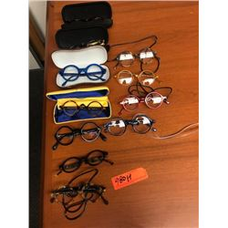 11 Prs. Eyewear: Morgenthal NY, Rims & Goggles (Italy), etc. - Various Colors, Rx Lenses