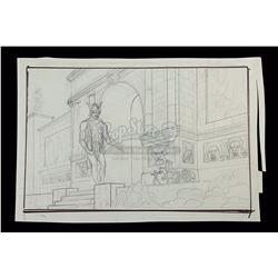 JASON AND THE ARGONAUTS (1963) - Ray Harryhausen Hand-Drawn Concept of Jason's (Todd Armstrong) Arri