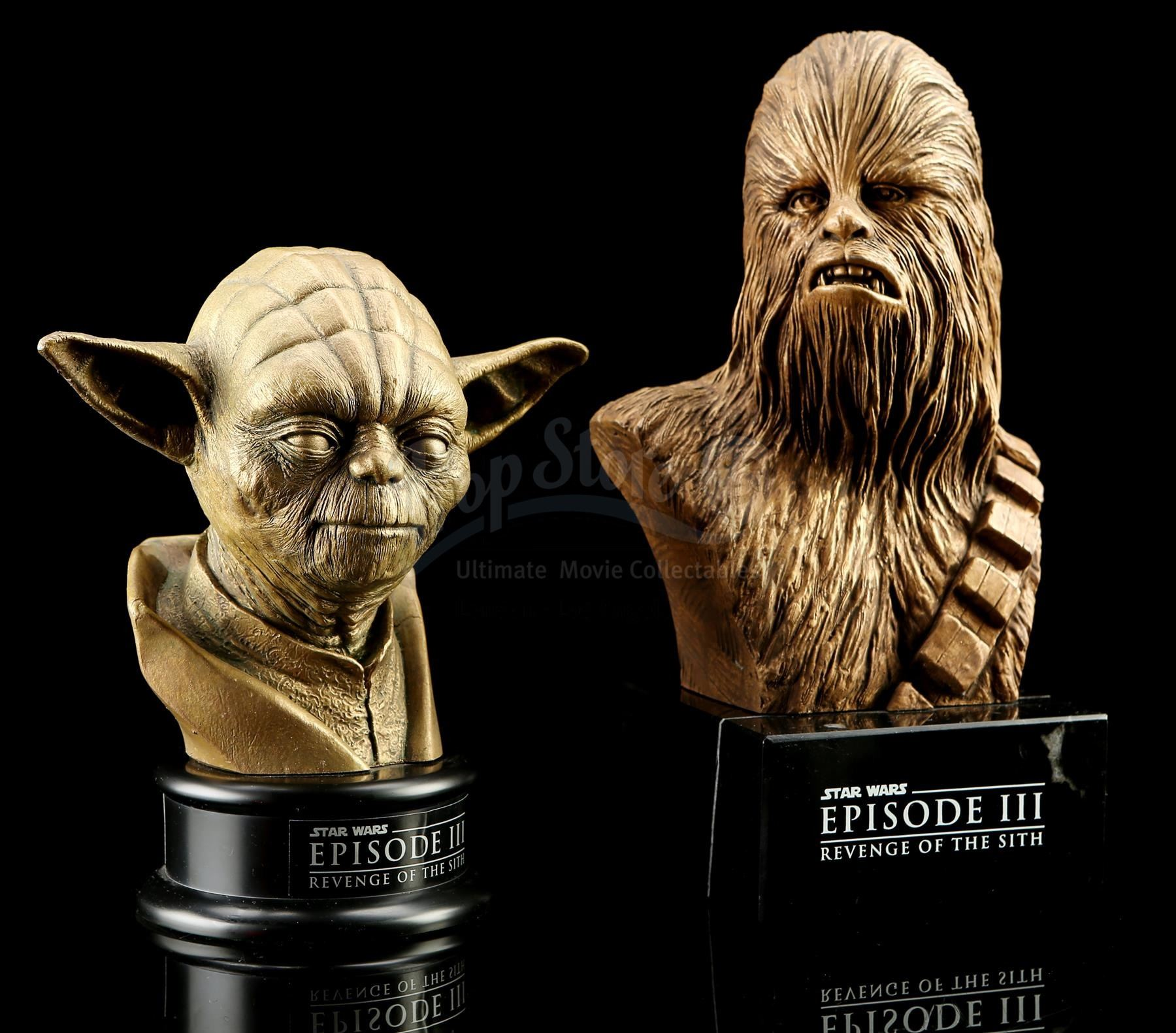 Star Wars Revenge Of The Sith 2005 Yoda And Chewbacca Statue Crew Gifts