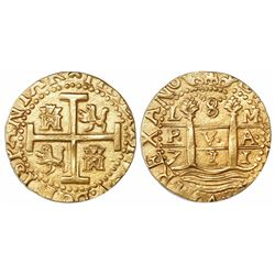 Lima, Peru, cob 8 escudos, 1711M, from the 1715 Fleet.