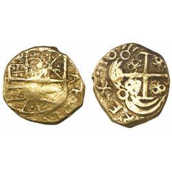 Bogota, Colombia, cob 2 escudos, Charles II, no assayer (Arce).