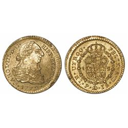Popayan, Colombia, bust 1 escudo, Charles III, 1772JS.