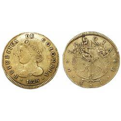 Bogota, Colombia, 4 escudos, 1826JF, very rare.