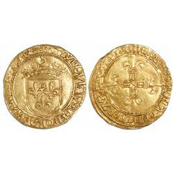 France, ecu d'or au soleil, Louis XII (1498-1515).