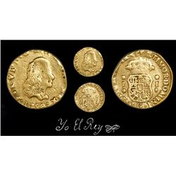 Guatemala, bust-type cob 1 escudo, Ferdinand VI, 1750/48J, unique, ex-Richard Stuart, Jara Plate Coi