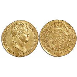 Guatemala, bust 1 escudo, Ferdinand VII, 1817M, ex-Richard Stuart.