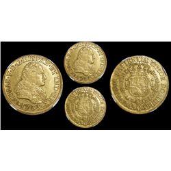 Mexico City, Mexico, bust 8 escudos, Philip V, 1733F, very rare, encapsulated NGC AU 55.