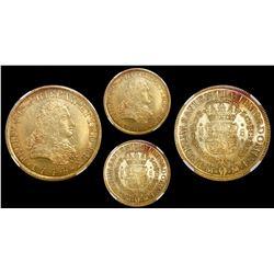 Mexico City, Mexico, bust 8 escudos, Philip V, 1744MF, encapsulated NGC MS 62.