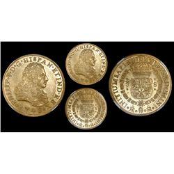 Mexico City, Mexico, bust 8 escudos, Philip V, 1746/5MF, encapsulated NGC AU 58.