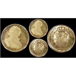 Mexico City, Mexico, bust 8 escudos, Charles III, 1774FM, encapsulated NGC MS 60, finest known in NG