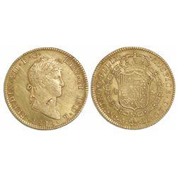 Mexico City, Mexico, bust 4 escudos, Ferdinand VII, 1818JJ.