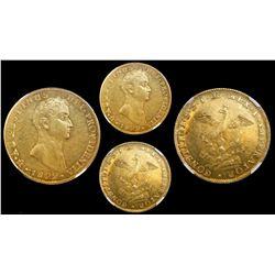 Mexico City, Mexico, 8 escudos, 1822JM, Iturbide, normal legend variety, encapsulated NGC MS 62.