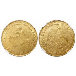 Guadalupe y Calvo, Mexico, 8 escudos, 1847MP, encapsulated NGC AU 53.