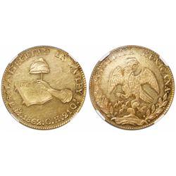 Mexico City, Mexico, 8 escudos, 1862CH, encapsulated NGC AU 58.