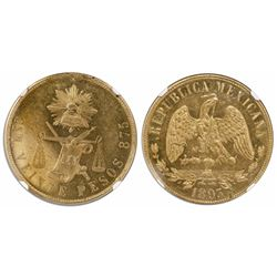 Culiacan, Mexico, 20 pesos, 1893M, encapsulated NGC MS 61.
