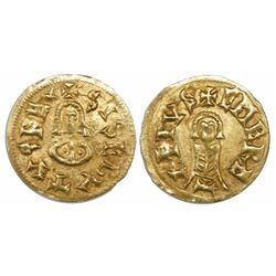 Visigoths (Spain), AV tremissis, Sisebut (612-621 AD), Emerita mint (Merida, Badajoz).