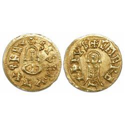 Visigoths (Spain), AV tremissis, Sisebut (612-621 AD), Emerita mint (Merida, Badajoz).