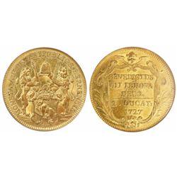 Bern, Switzerland, 2 ducat, 1727, encapsulated NGC MS 61.