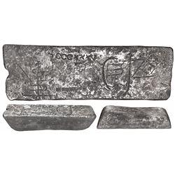 Large silver bar #247, 89 lb 0.5 oz troy, Class Factor 0.8, with markings of manifest 335, fineness