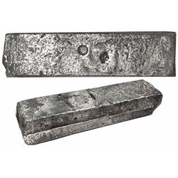 Neatly formed silver ingot, 1960 grams, about 98.5% fine, with stamps of the Zeeland chamber of the