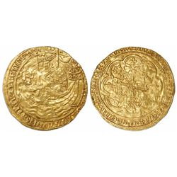 London, England, gold noble, Edward III, fourth coinage (1351-77), treaty period (1361-69).