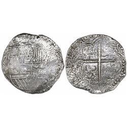 Potosi, Bolivia, cob 8 reales, (1)618(T), Grade 2.