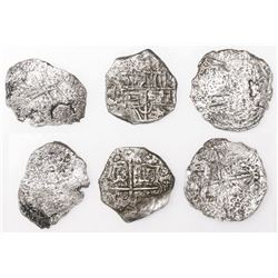 Lot of three Potosi, Bolivia, cob 4 reales, Philip III, assayers not visible, Grades 3 (two) and 4 (