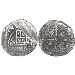 Mexico City, Mexico, cob 4 reales, (16)18/7D/F, rare.