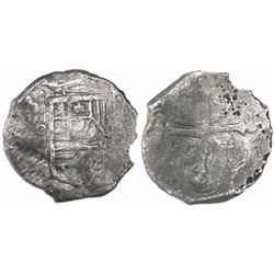Mexico City, Mexico, cob 4 reales, (16)23/2D, rare.