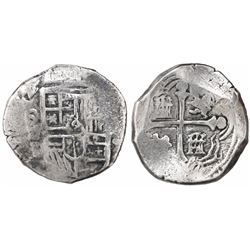 Mexico City, Mexico, cob 4 reales, (16)24/3/2D, rare.