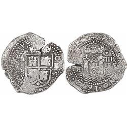 Potosi, Bolivia, cob 8 reales, 1652E transitional Type IV/A, ex-Ponterio, ex-Mastalir.