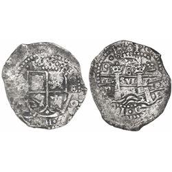 Potosi, Bolivia, cob 8 reales, 1652E transitional Type VII/A, ex-Mastalir.