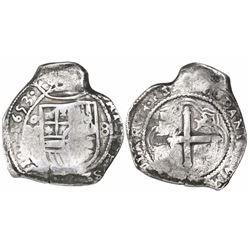 Mexico City, Mexico, cob 8 reales, 1653 (P).