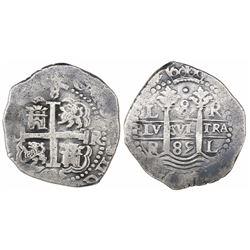 Lima, Peru, cob 8 reales, 1685R.