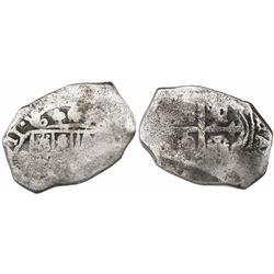 Mexico City, Mexico, cob 4 reales, (1)711(J).