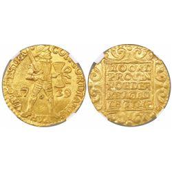 Utrecht, United Netherlands, gold ducat, 1729, encapsulated PCGS MS62.