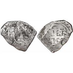Mexico City, Mexico, cob 4 reales, (17)24(D), (Louis I), very rare.