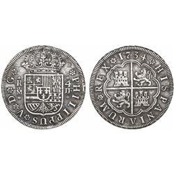 Madrid, Spain, milled 4 reales, Philip V, 1734JF.