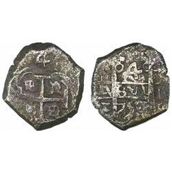 Potosi, Bolivia, cob 4 reales, 1750E.