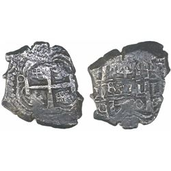 Potosi, Bolivia, cob 4 reales, 1750q, rare.