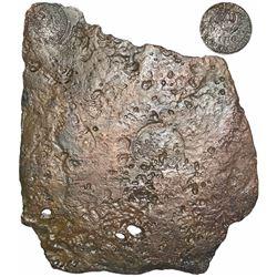 "Sweden (Avesta mint), copper 2 daler ""plate money,"" Karl XII, 1710."