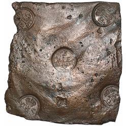 """Sweden (Avesta mint), copper 2 daler """"plate money,"""" Fredrik I, 1744."""