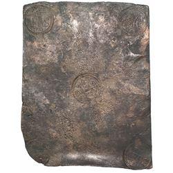 """Sweden (Avesta mint), copper 2 daler """"plate money,"""" Adolf Fredrik I, 1751."""
