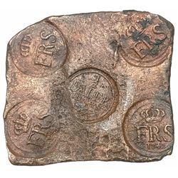 Sweden (Avesta mint), copper 1/2 daler  plate money,  Fredrik I, 1742.