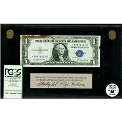 USA, $1 silver certificate star note, series 1935E*, certified PCGS Grade B, with Andrea Doria issue