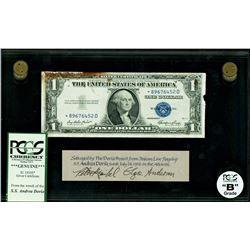 USA, $1 silver certificate star note, series 1935E*, certified PCGS Grade B, with Andrea Doria issue