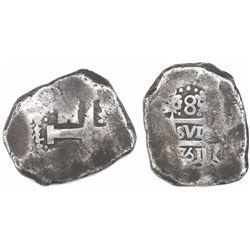 Lima, Peru, cob 8 reales, 1751(R ), very rare.