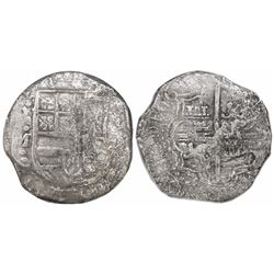 Potosi, Bolivia, cob 8 reales, 16(17)M, encapsulated NGC VF 20.